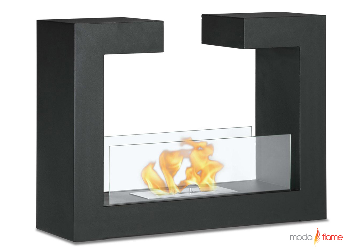 free standing floor indoor outdoor ethanol fireplace in black - beja free standing floor indoor outdoor ethanol fireplace in black