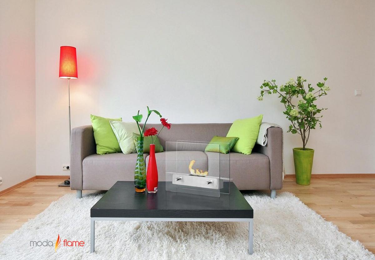 - Ibiza Ventless Table Top Ethanol Fireplace