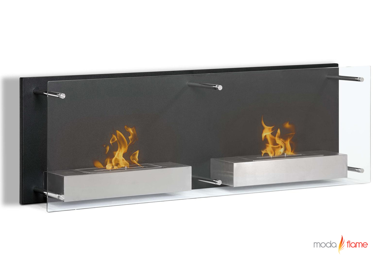wall mounted ethanol fireplace - faro wall mounted ethanol fireplace