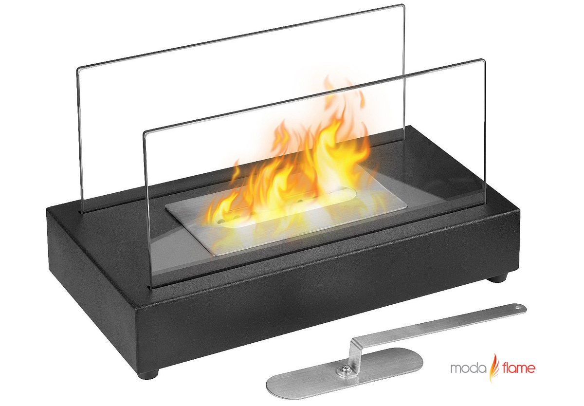 ventless tabletop bio ethanol fireplace in black - vigo ventless tabletop bio ethanol fireplace in black