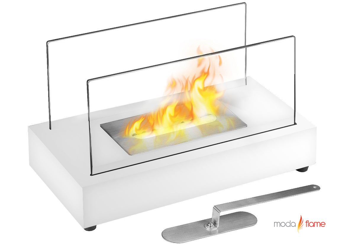 ventless tabletop bio ethanol fireplace in white - vigo ventless tabletop bio ethanol fireplace in white