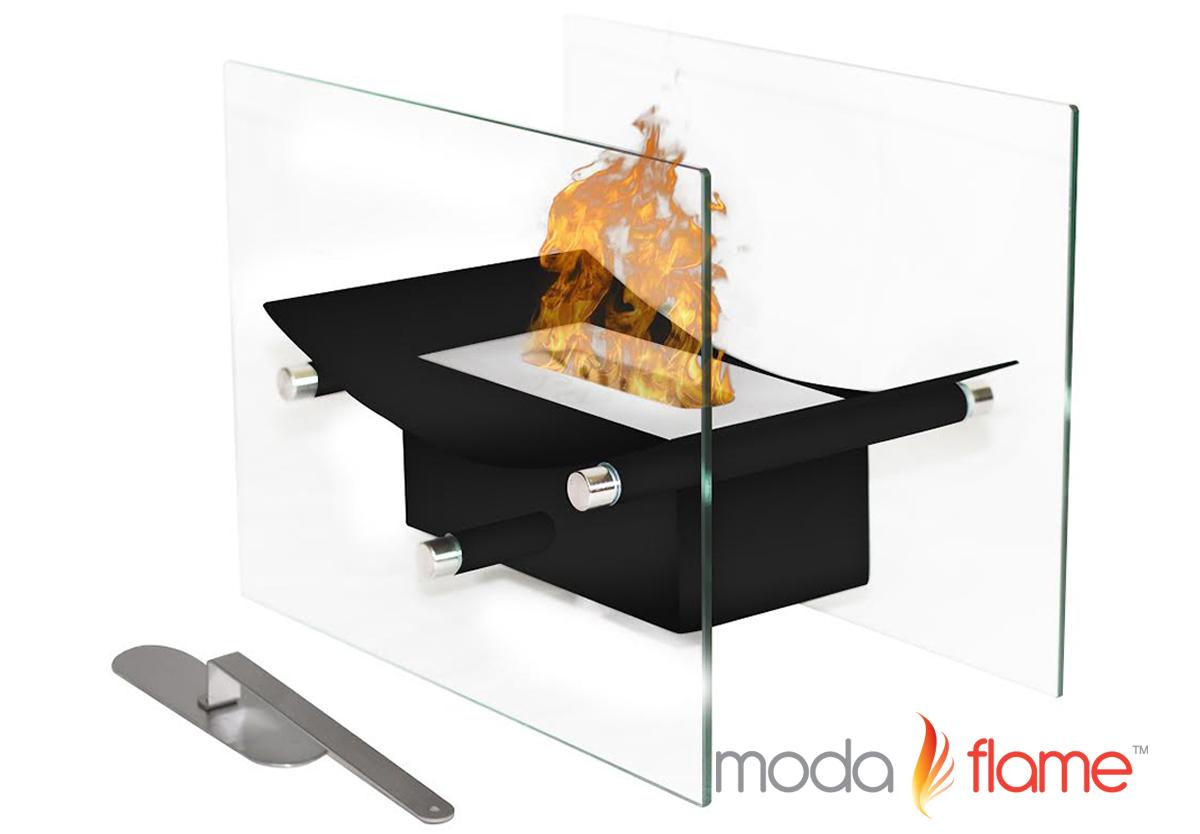 cavo tabletop ventless bio ethanol fireplace in black