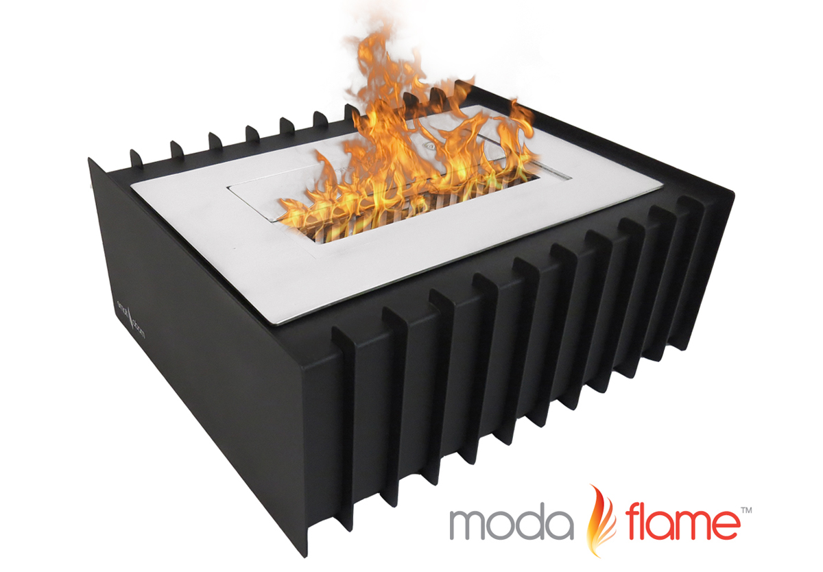 Liter PRO Ventless Bio Ethanol Fireplace Grate Burner Insert