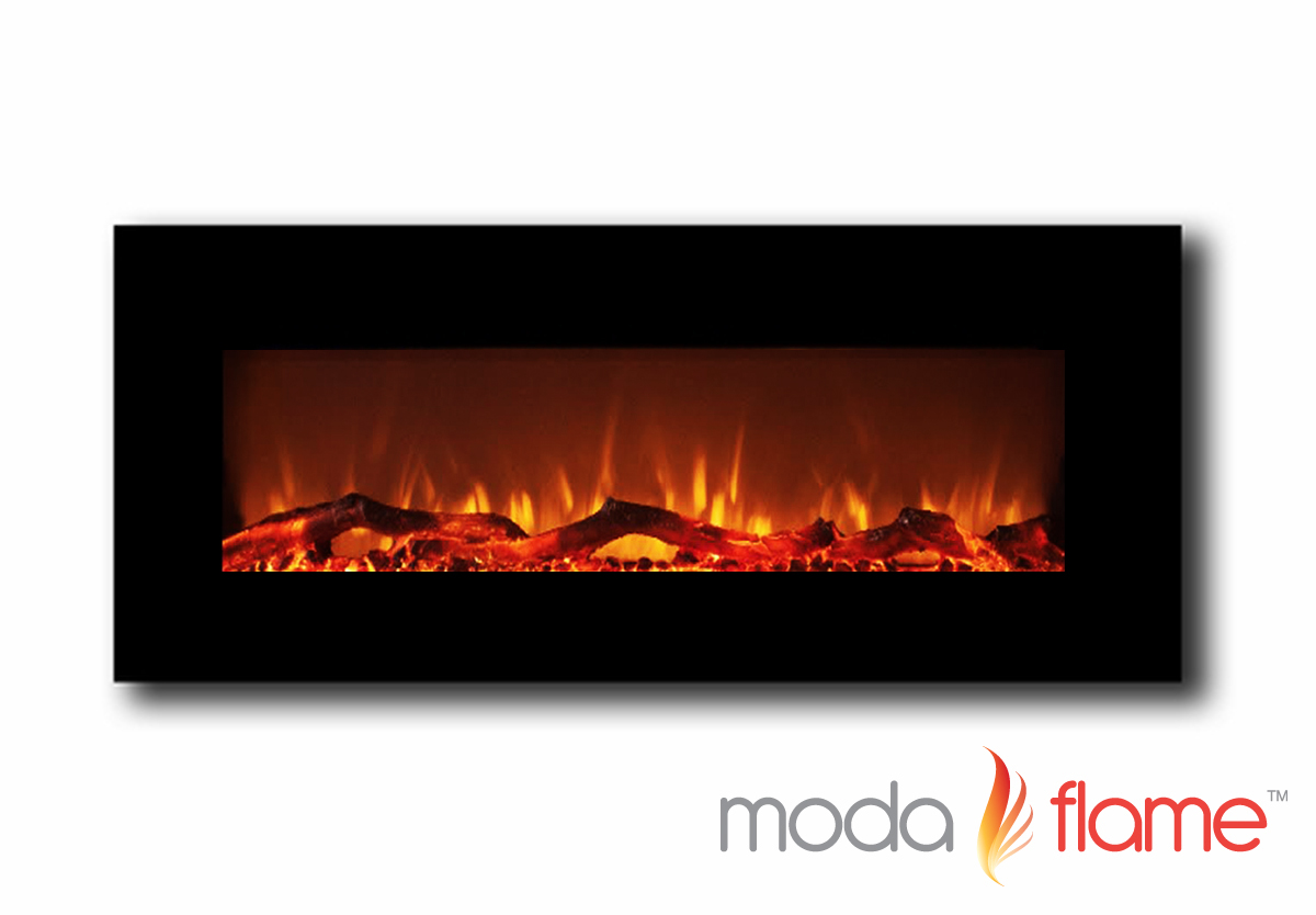 inch electric wall mounted fireplace black - houston  inch electric wall mounted fireplace black