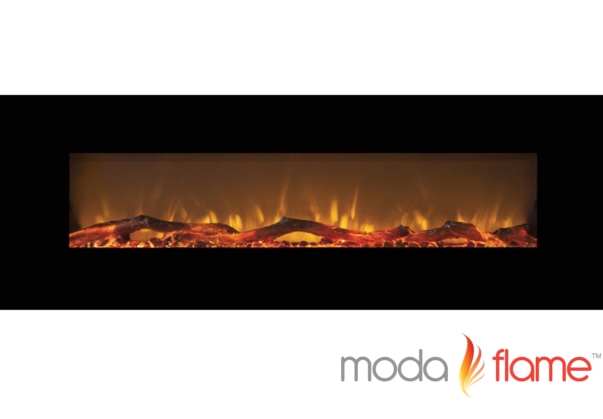Moda Flame 72 Quot Skyline Log Linear Wall Mounted Electric