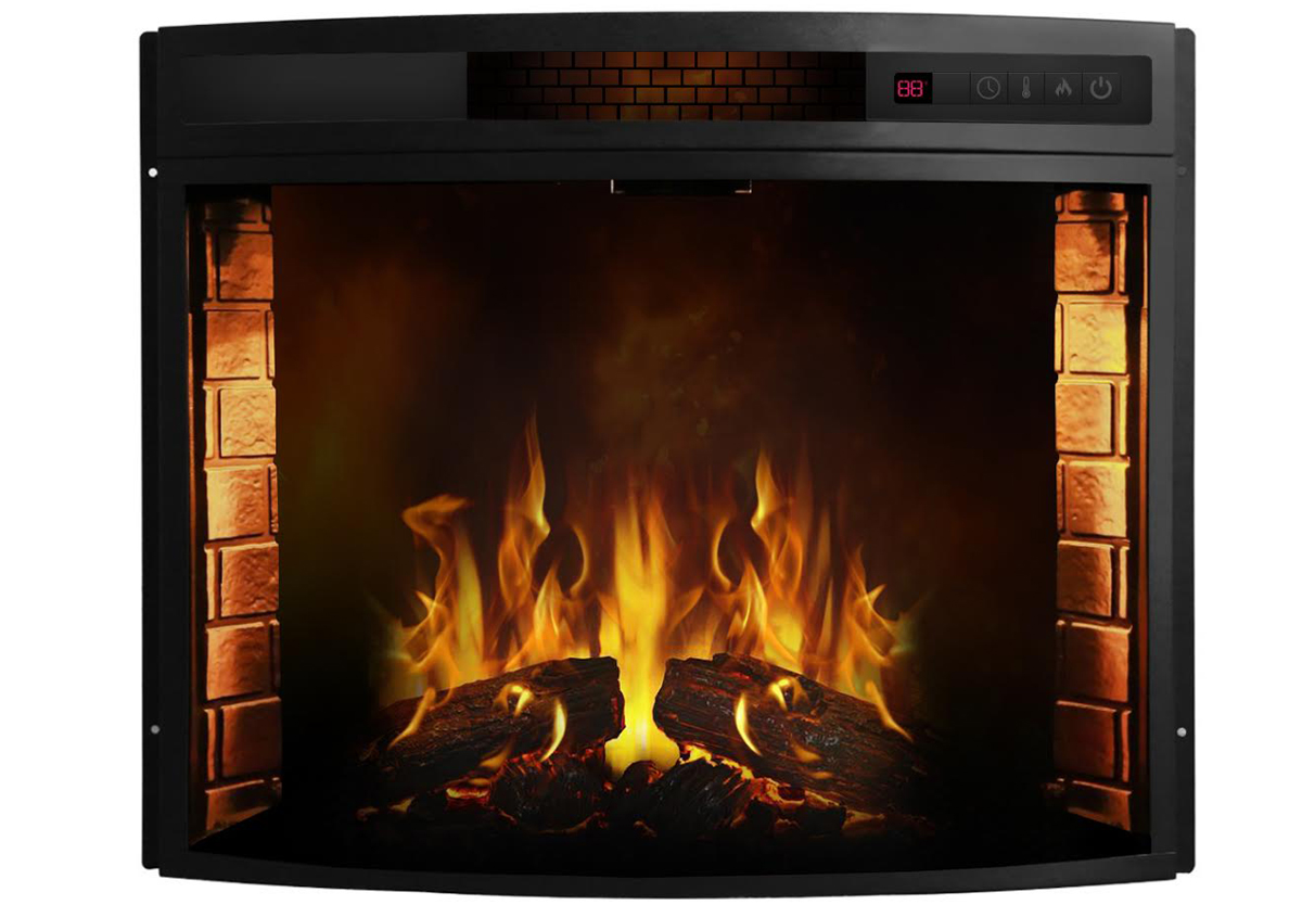 23 Inch Curved Electric Fireplace Insert