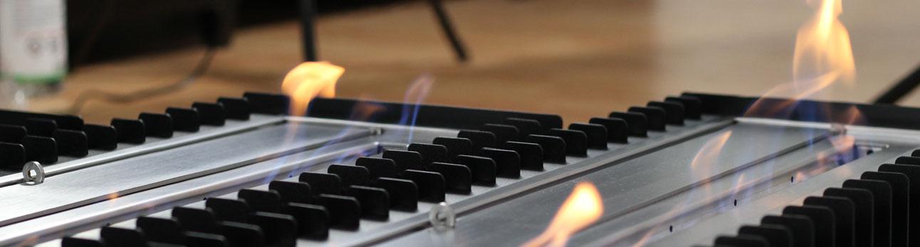 Ventless Bio Ethanol Fireplace Grate Inserts