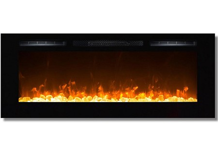 50 Inch Cynergy Crystal Stone Built-In Wall Mounted Electric Fireplace