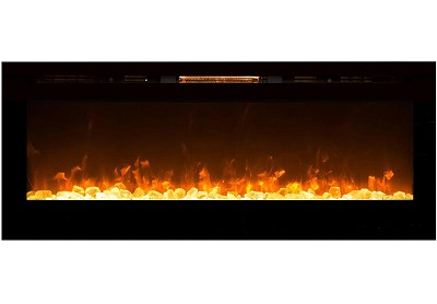 60 Inch Cynergy XL Crystal Stone Built-In Wall Mounted Electric Fireplace
