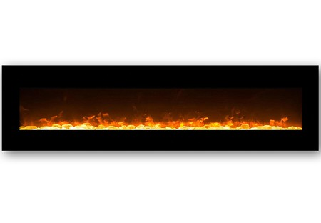 95 Inch Grand Crystal Wall Mounted Electric Fireplace