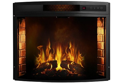 Elwood 33 Inch Curved Electric Fireplace Insert