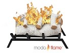 18 Inch Birch Convert to Ethanol Fireplace Log Set Grate