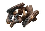 9 PC Ceramic Fireplace Wood Log Set