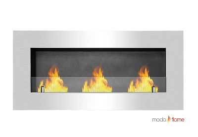 Hudson Recessed Wall Mounted Ethanol Fireplace