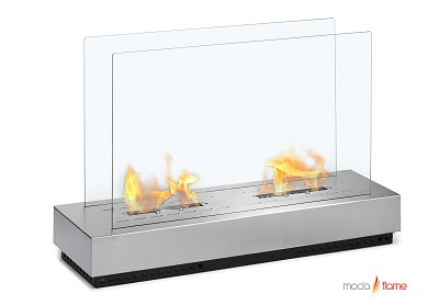 Braga Free Standing Floor Indoor Outdoor Ethanol Fireplace