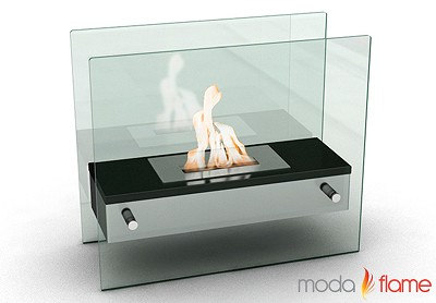 Naples H Tabletop Firepit Bio-Ethanol Ventless Fireplace Black