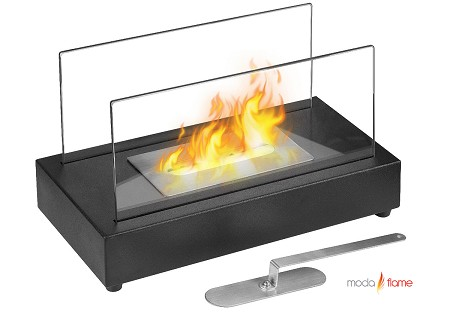Vigo Ventless Tabletop Bio Ethanol Fireplace in Black