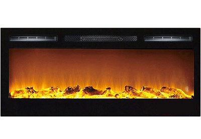 36 Inch Cynergy Log Built-In Recessed Wall Mounted Electric Fireplace