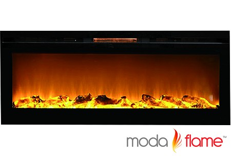 50 Inch Cynergy Log Built-In Wall Mounted Electric Fireplace