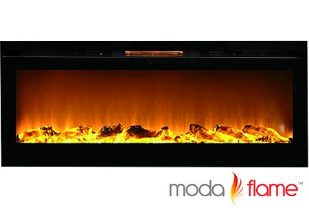 60 Inch Cynergy XL Log Built-In Wall Mounted Electric Fireplace