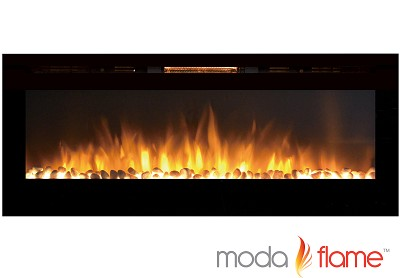 60 Inch Cynergy XL Pebble Stone Built-In Wall Mounted Electric Fireplace