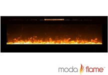 72 Inch Recessed Cynergy XXL Crystal Built-In Wall Mounted Electric Fireplace