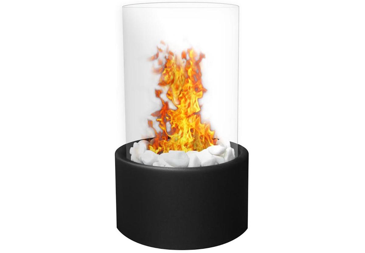 Ghost Tabletop Firepit Ethanol Fireplace Black
